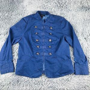 INC International Concepts Military Knit Jacket 1X